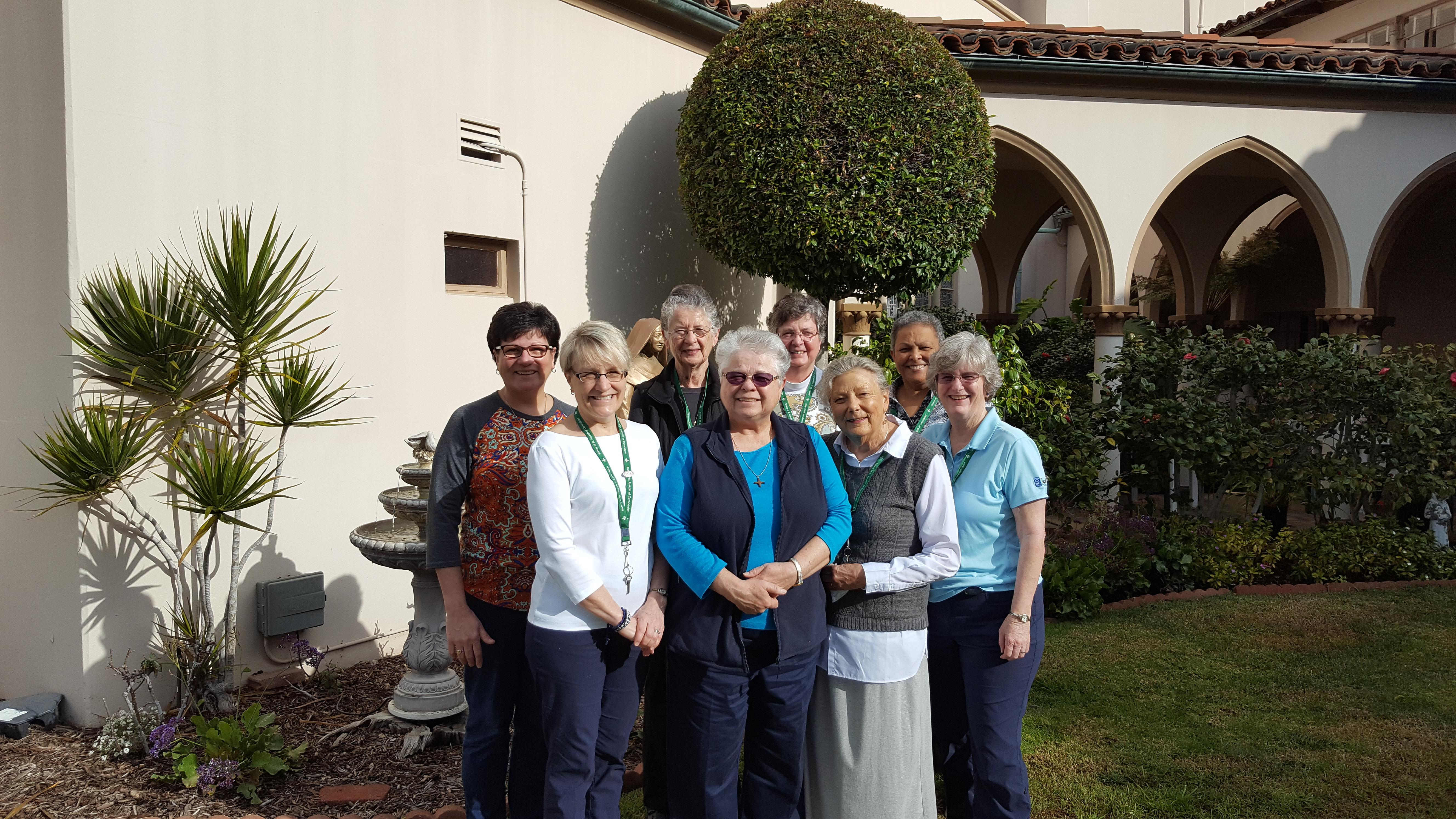 Back row Mary Louise Jeanne Marie and Ingrid Front Charlene Linda Jane Ann and Patty