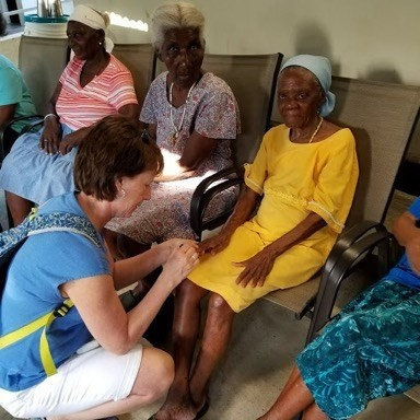 "The group enjoyed a ""spa day"" with the women at the Village."