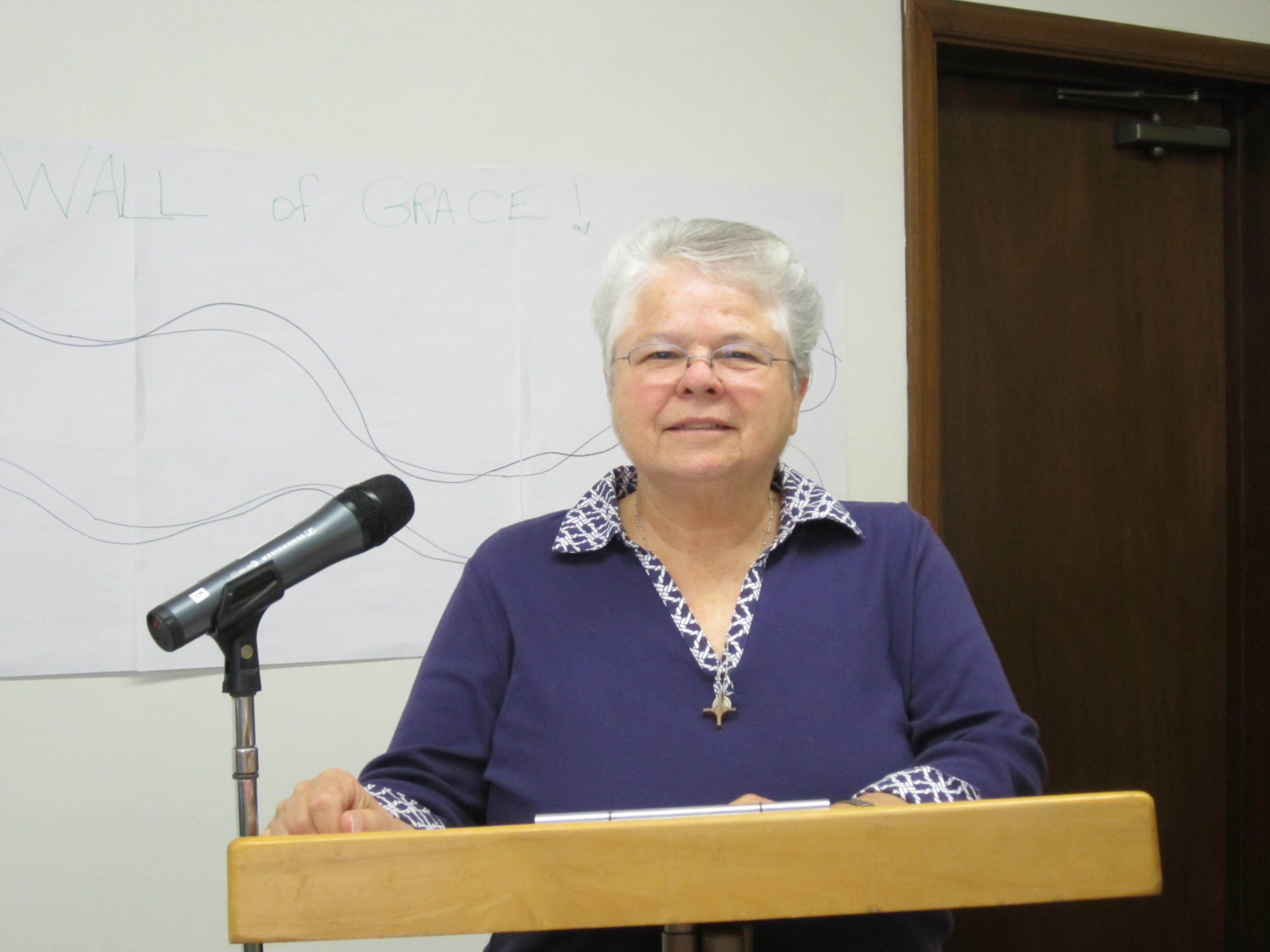 "Sr. Jane DeLisle created and taught the ""Lace Is Not Finished"" program"