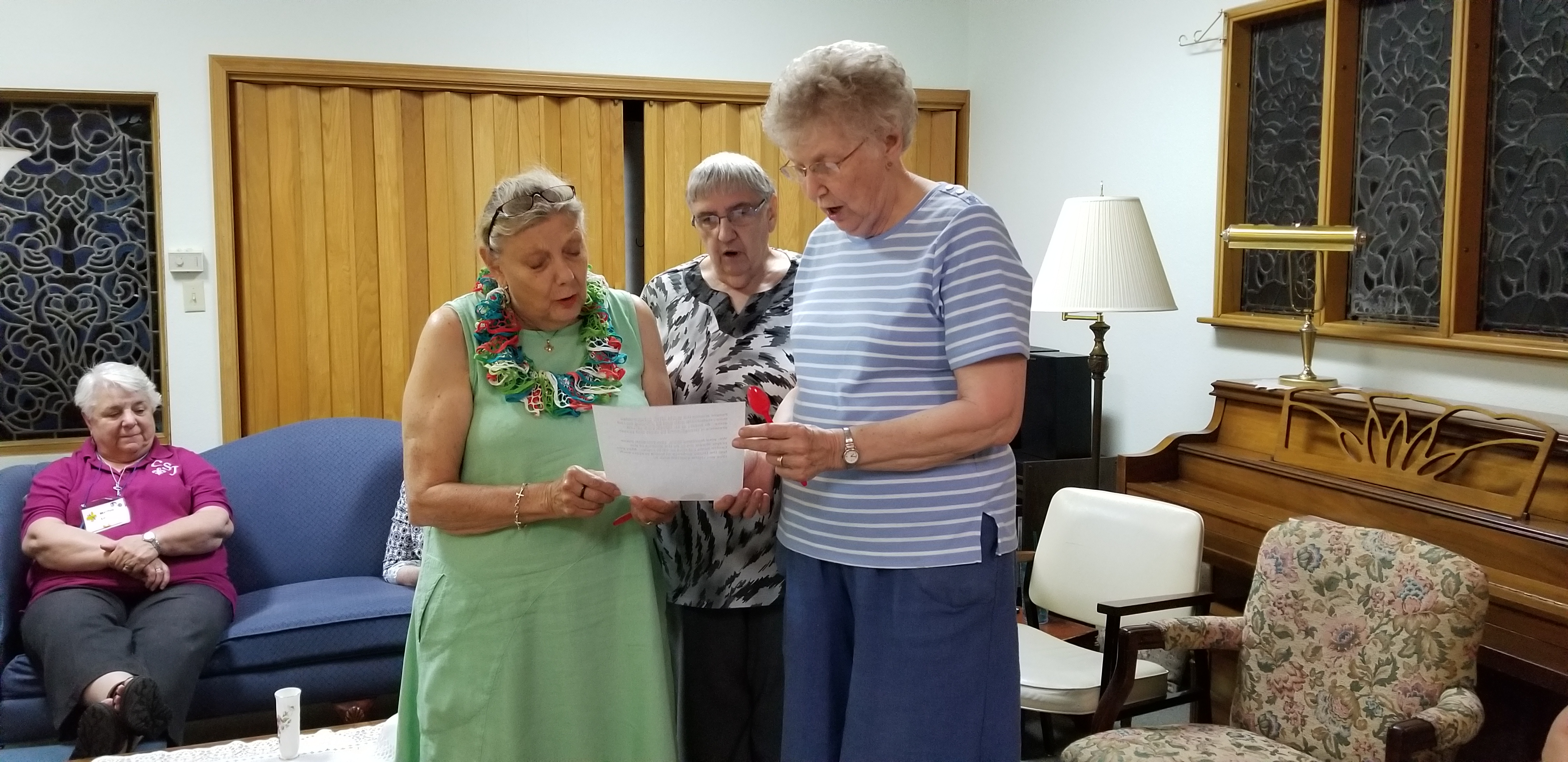 Srs. Ann Ashwood, Mary Jo Thummel, and Betty Suther were apart of the novitiate team