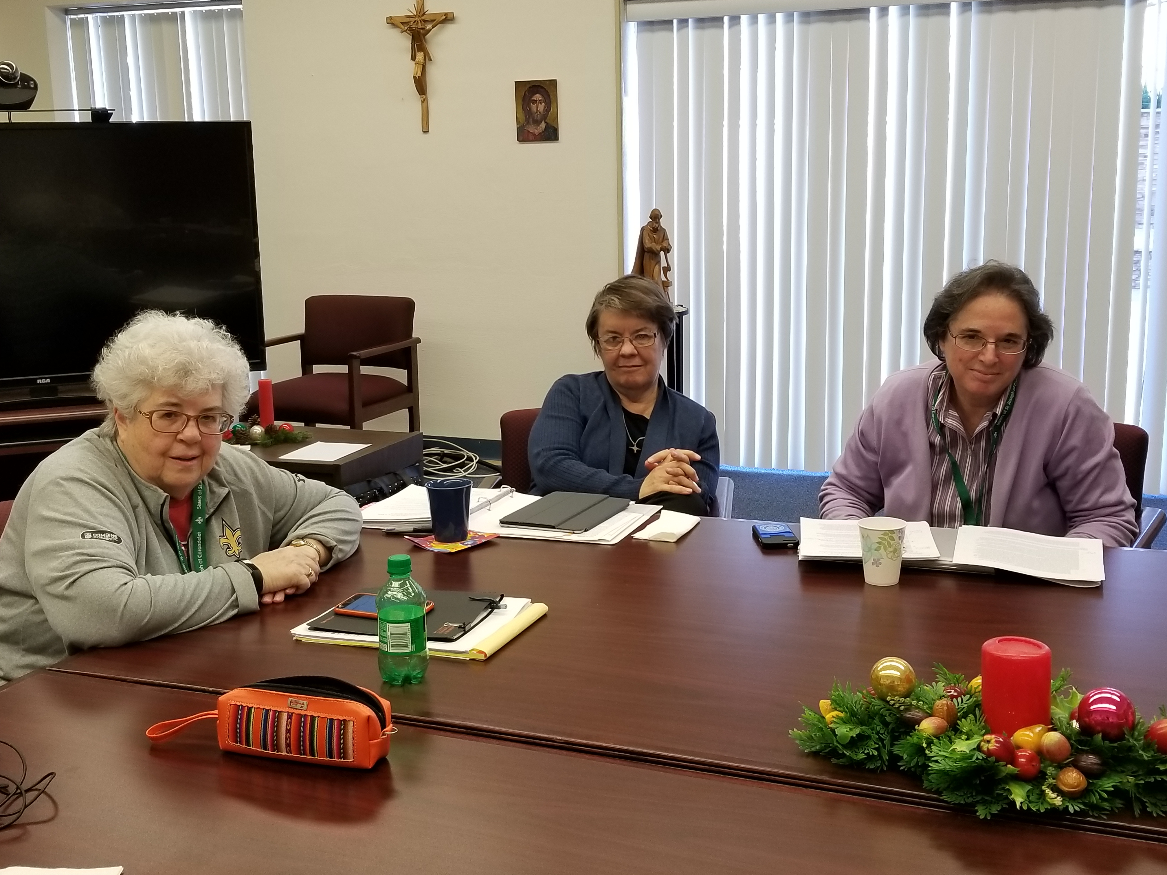 Srs. Eileen McCann Cecelia Magladry and Joan Gallagher are the search committee for younger board members