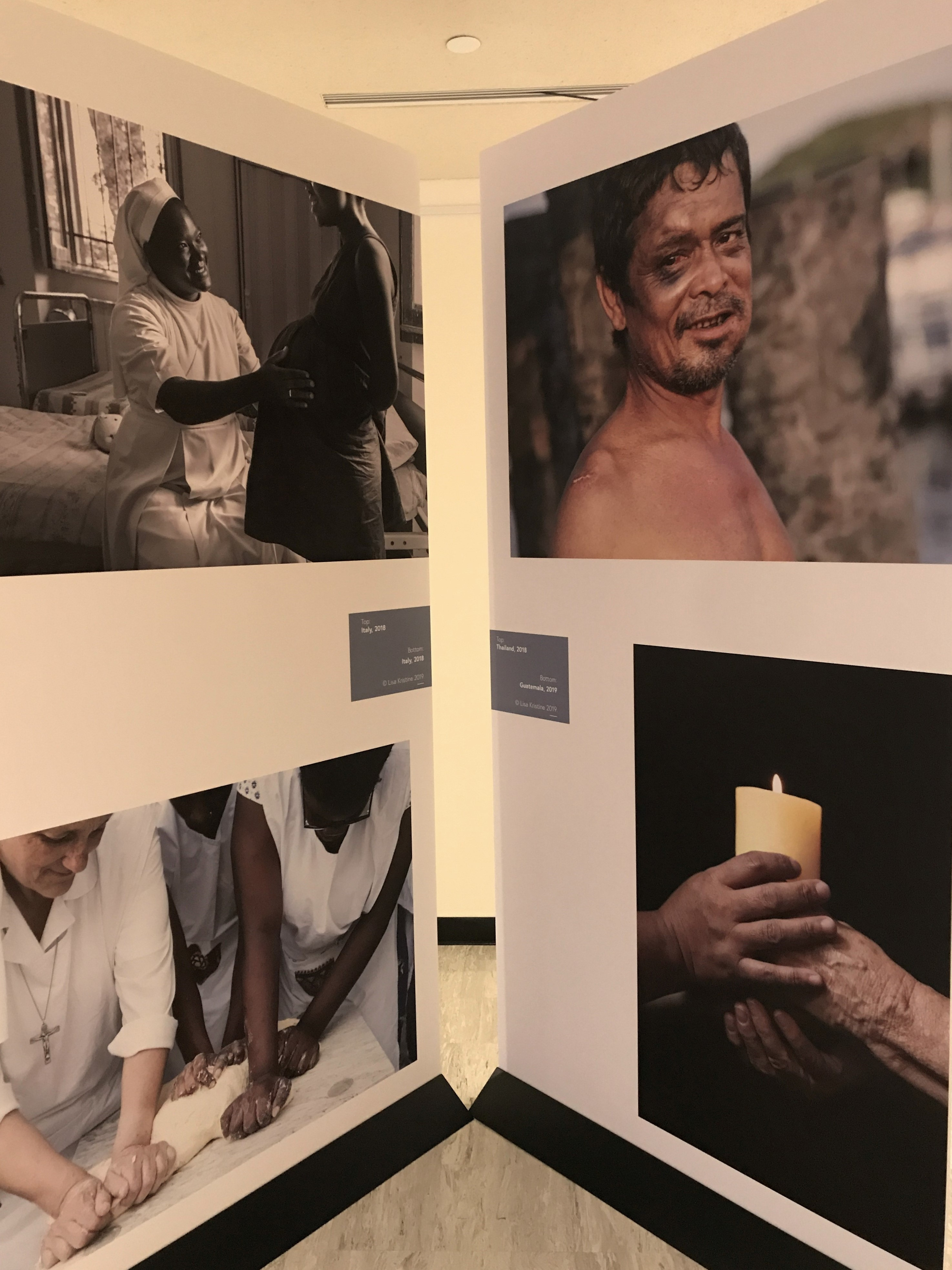"Images from Lisa Kristine's ""Nuns Healing Hearts"" exhibit at the United Nations July 29, 2019."