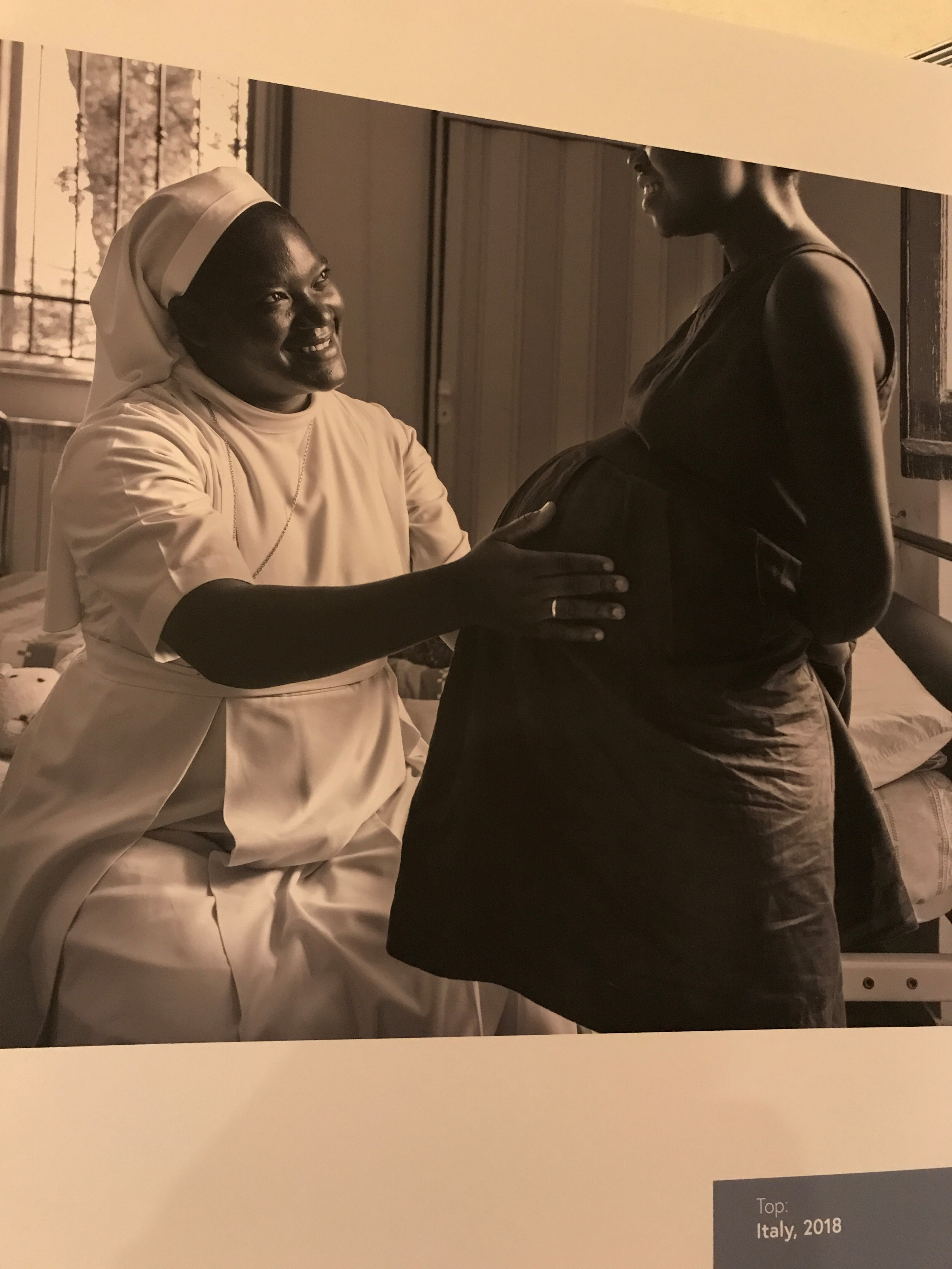 "Image from Lisa Kristine's ""Nuns Healing Hearts"" exhibit at the United Nations July 29, 2019."