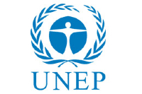 Blue and white logo of the United Nations Environmental Programme